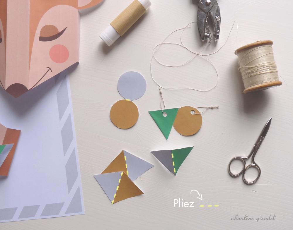 DIY Renne de Noël en papier - Charlène Girodet