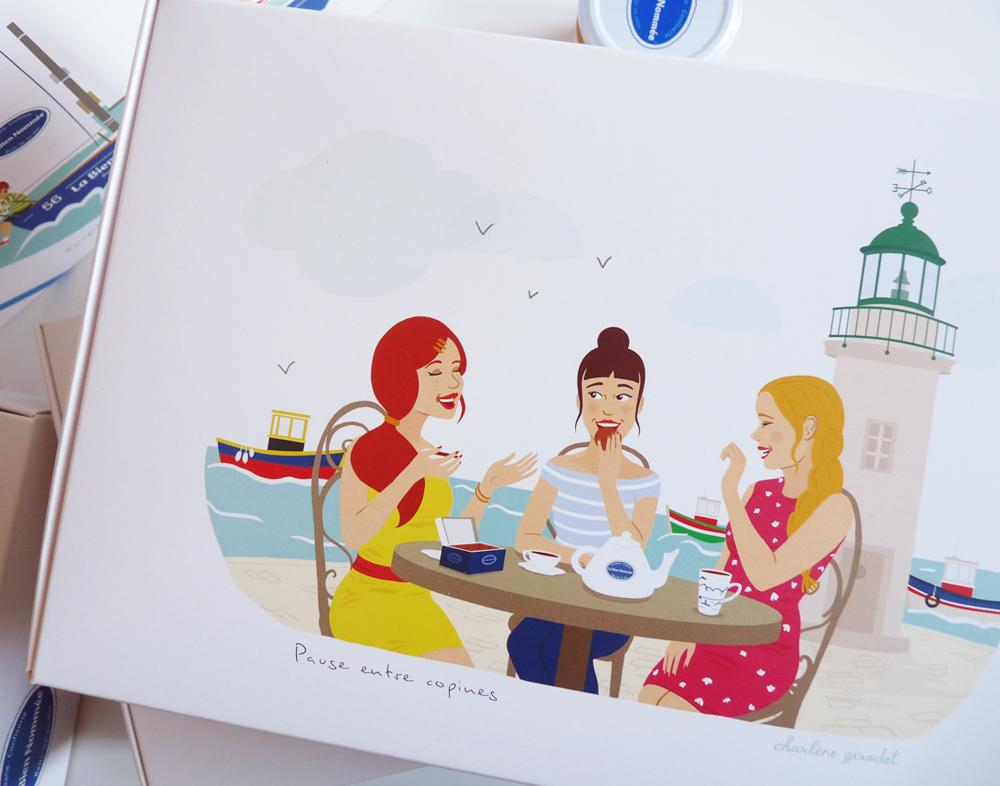 Ilustrations packaging -La Bien Nomée - Charlène Girodet