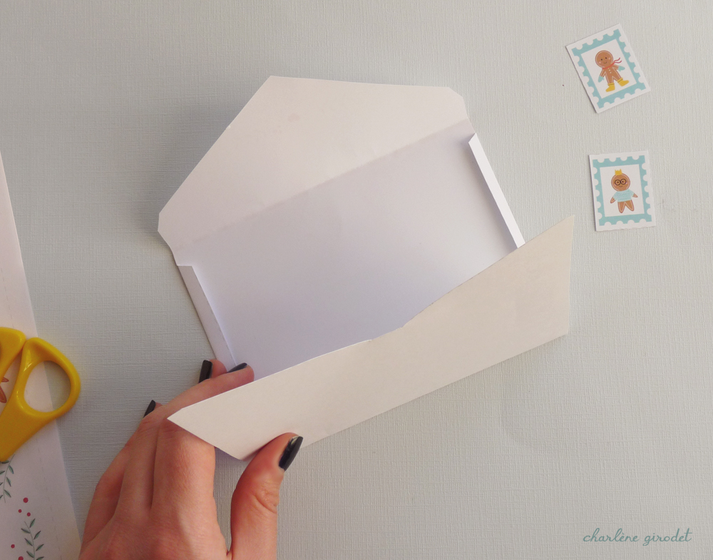 Printable - Lettre au Père Noël et son enveloppe - Charlène Girodet