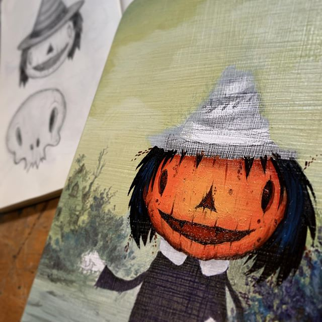 Finishing up this creep for #bewitching @strangerfactory #halloween #joescarano