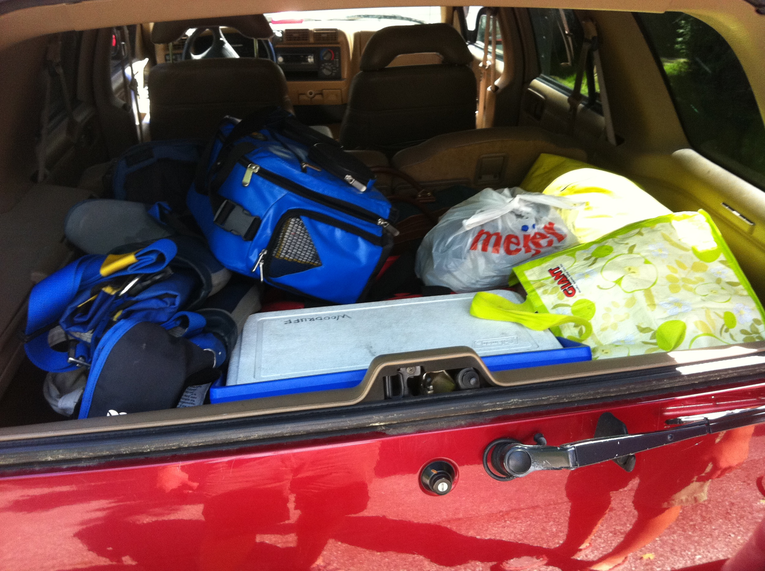 Gear packed up for a lift south.
