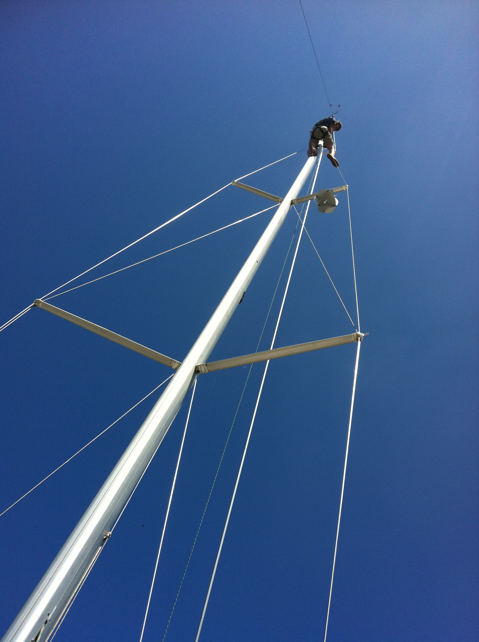 Foster up the mast - pre delivery rig work