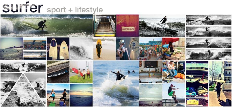 Surfers: Michael Kololyan, Michael Reinhardt, Juliane Camposano // Rockaway Beach, NY; Rockaway Beach Surf Club