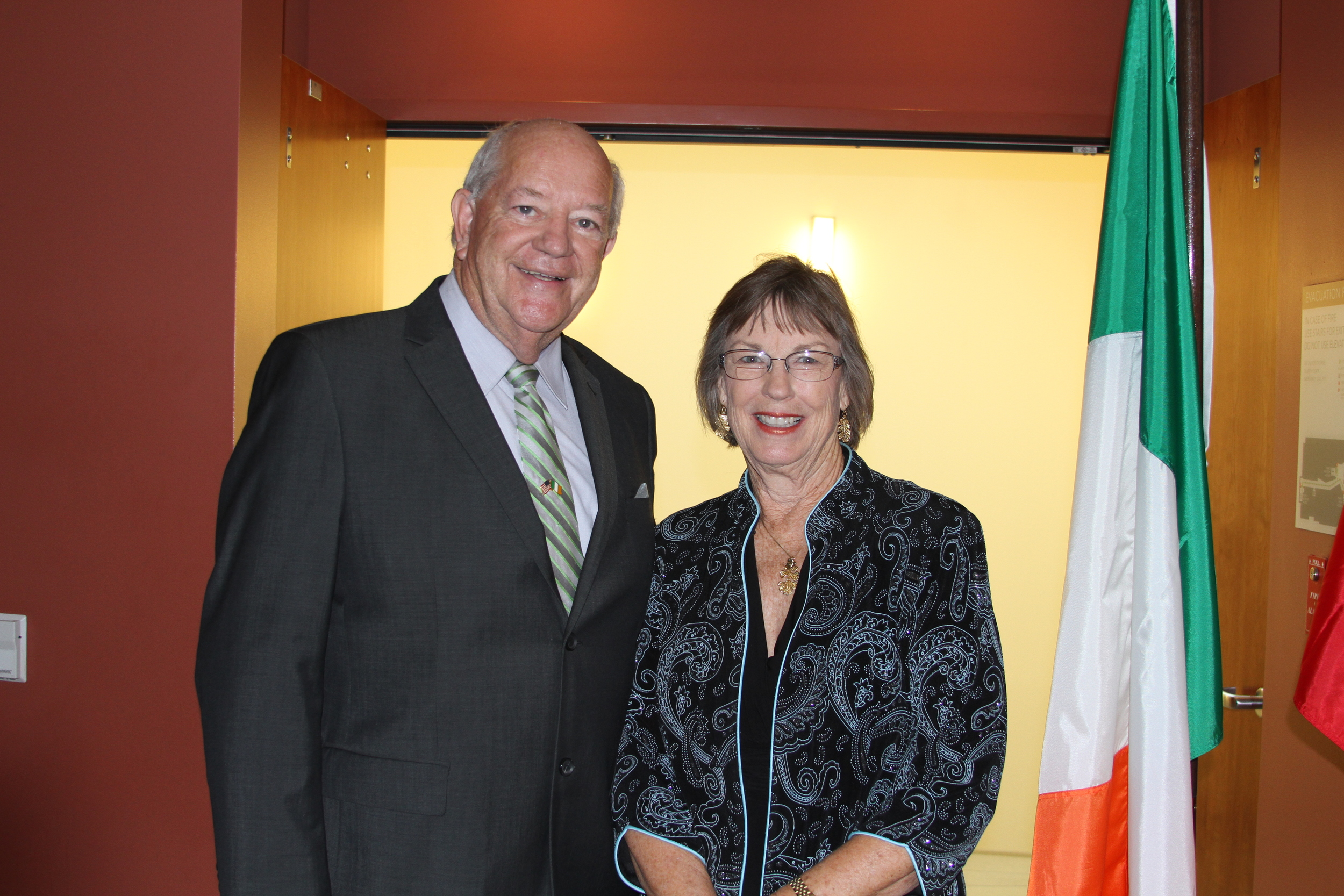 Honorable Finbar Hill, Consul General of Ireland and Dean of the Leatherby Libraries, Charlene Baldwin