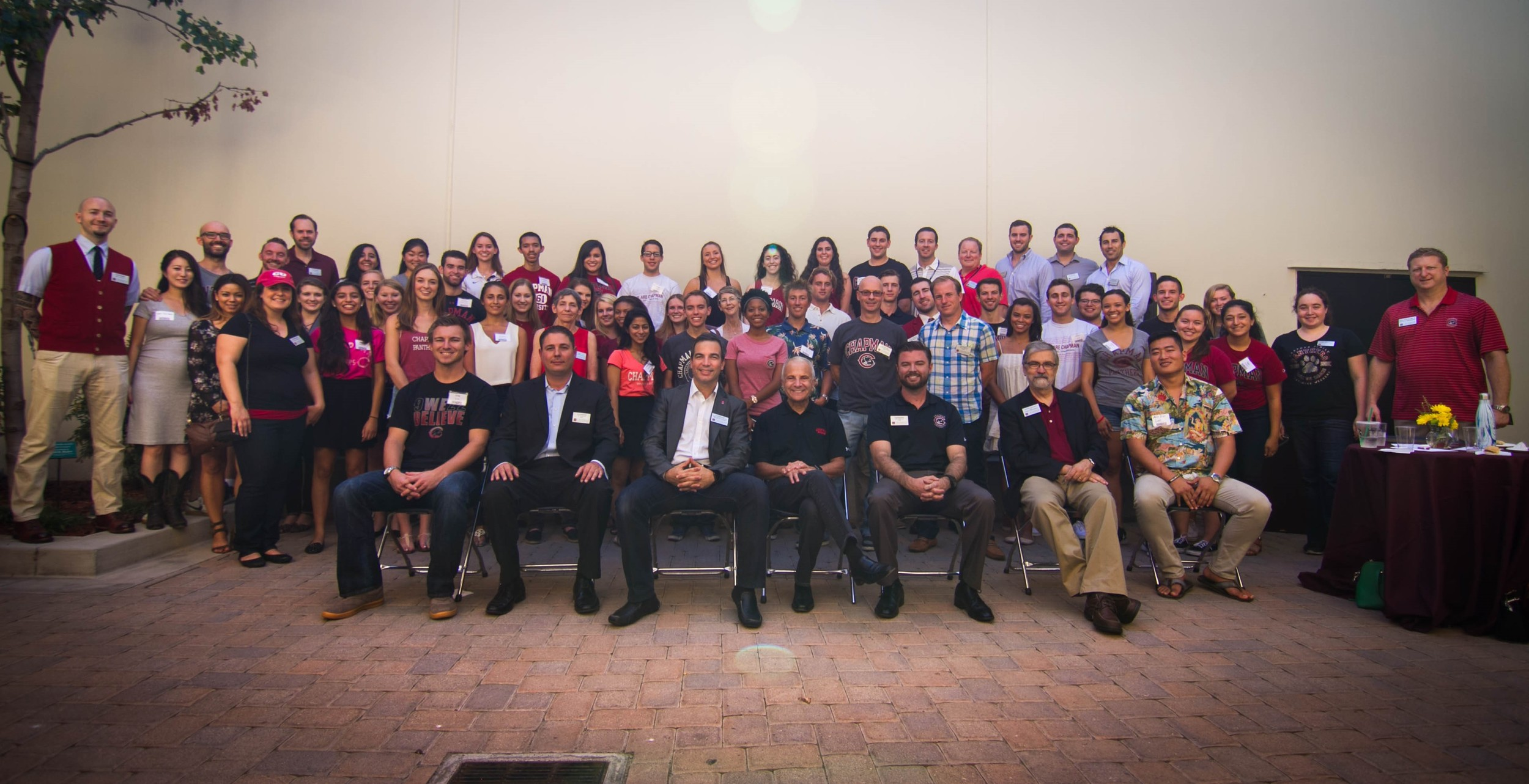 Chapman50 student scholars and members network in October 2015.