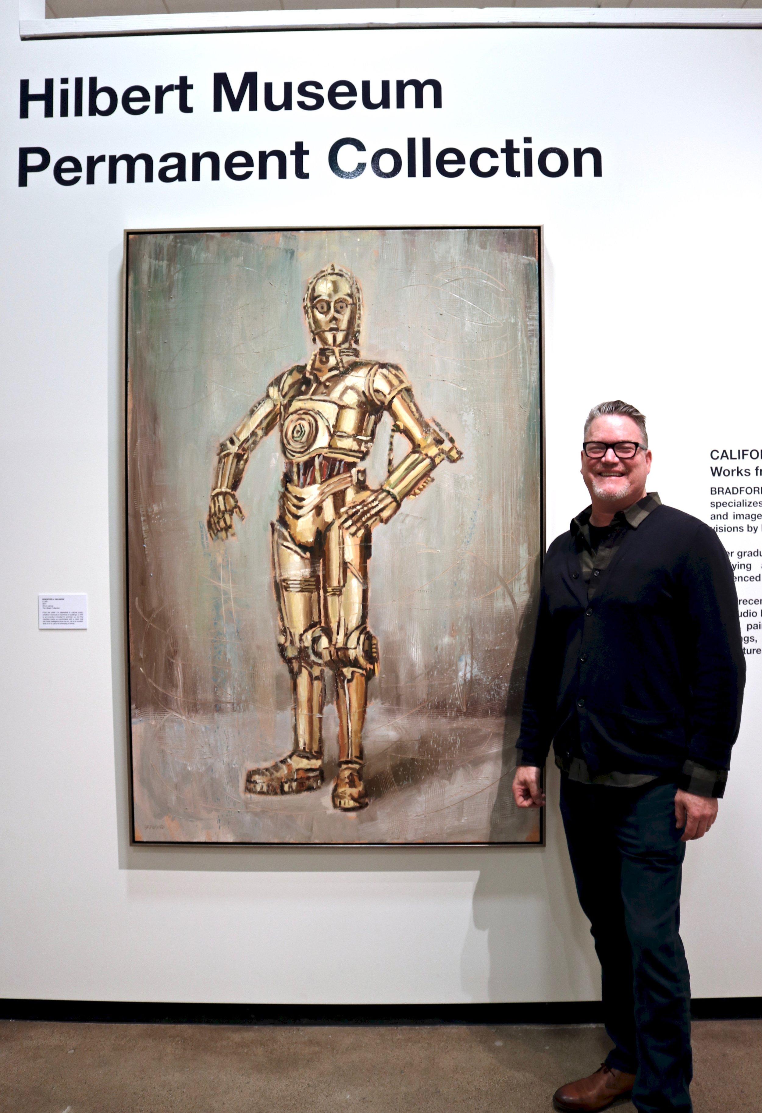 Bradford J Salamon with Chapman50 at the Hilbert Museum.jpg