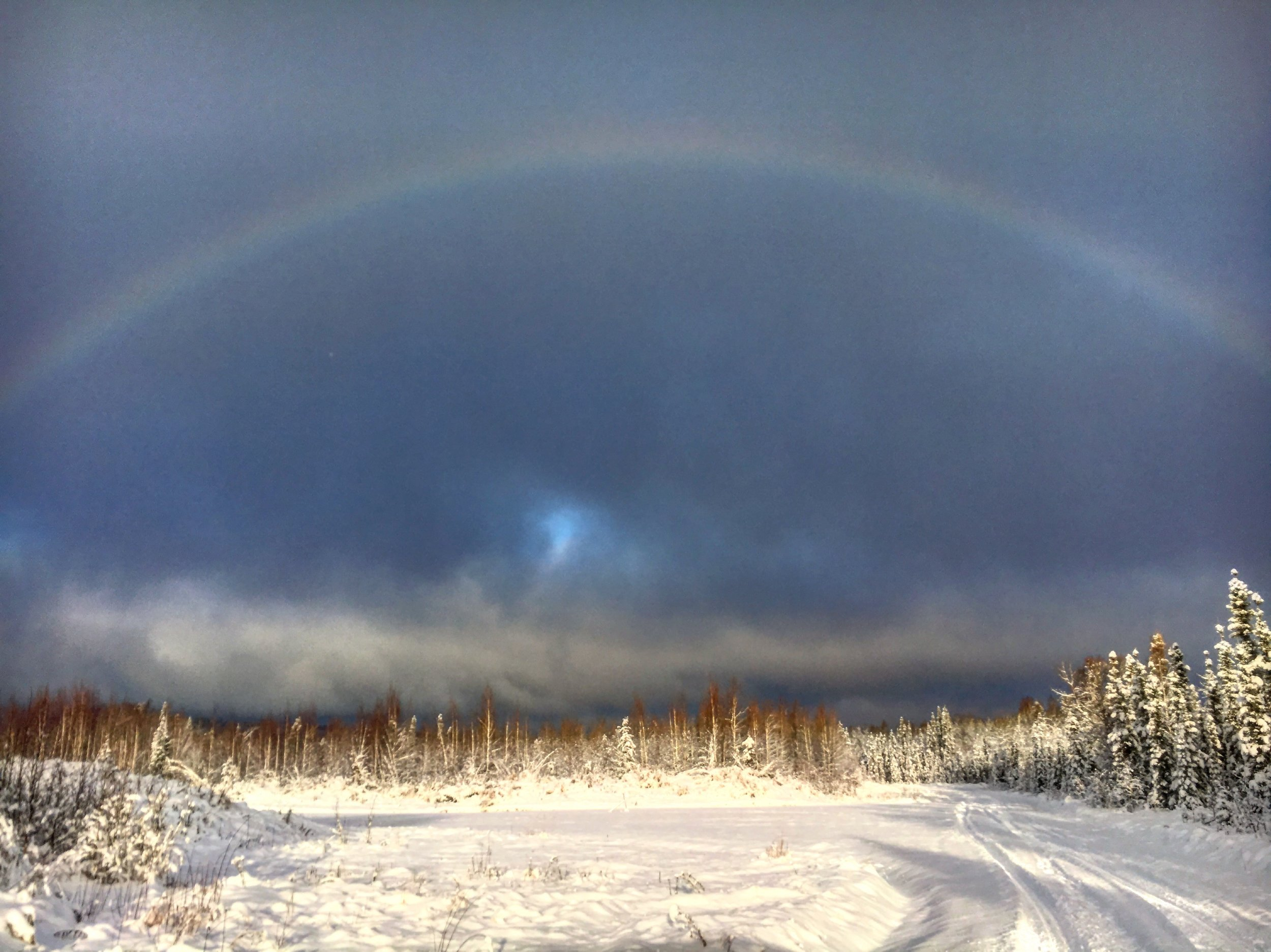 A winter rainbow from a couple weeks ago.