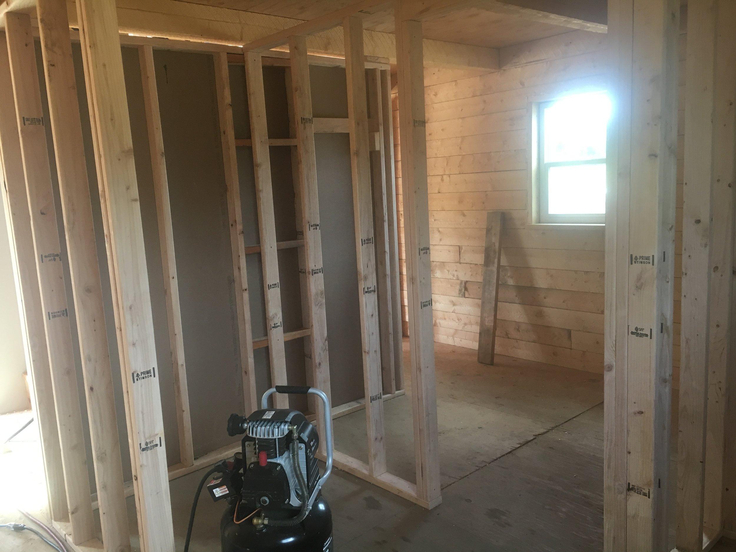 Framing the walls.