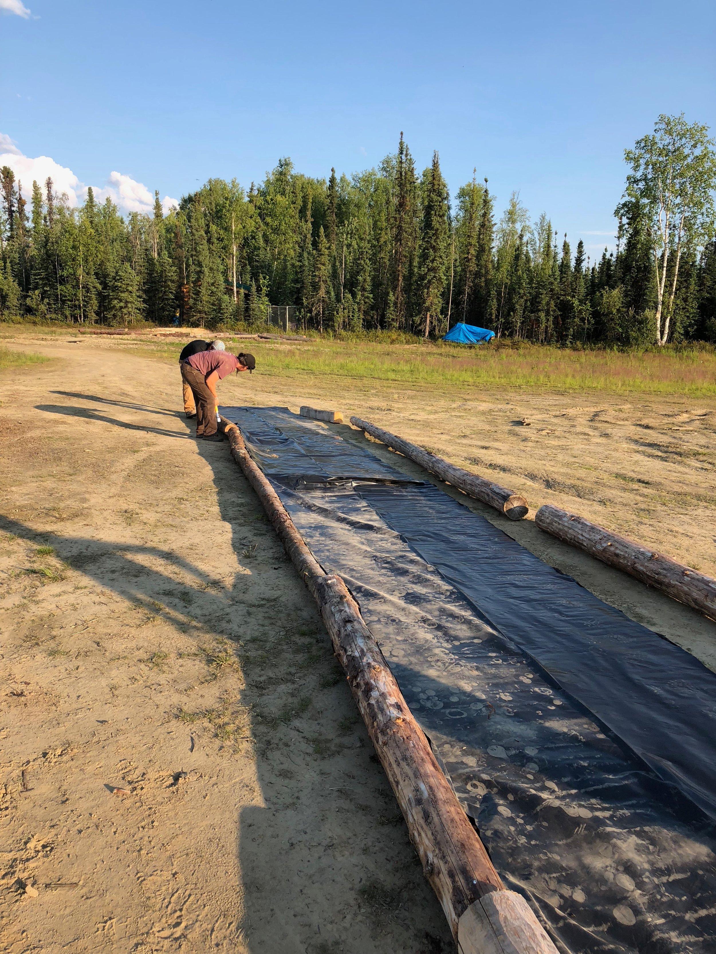 Construction of Redneck Slippin' Slide