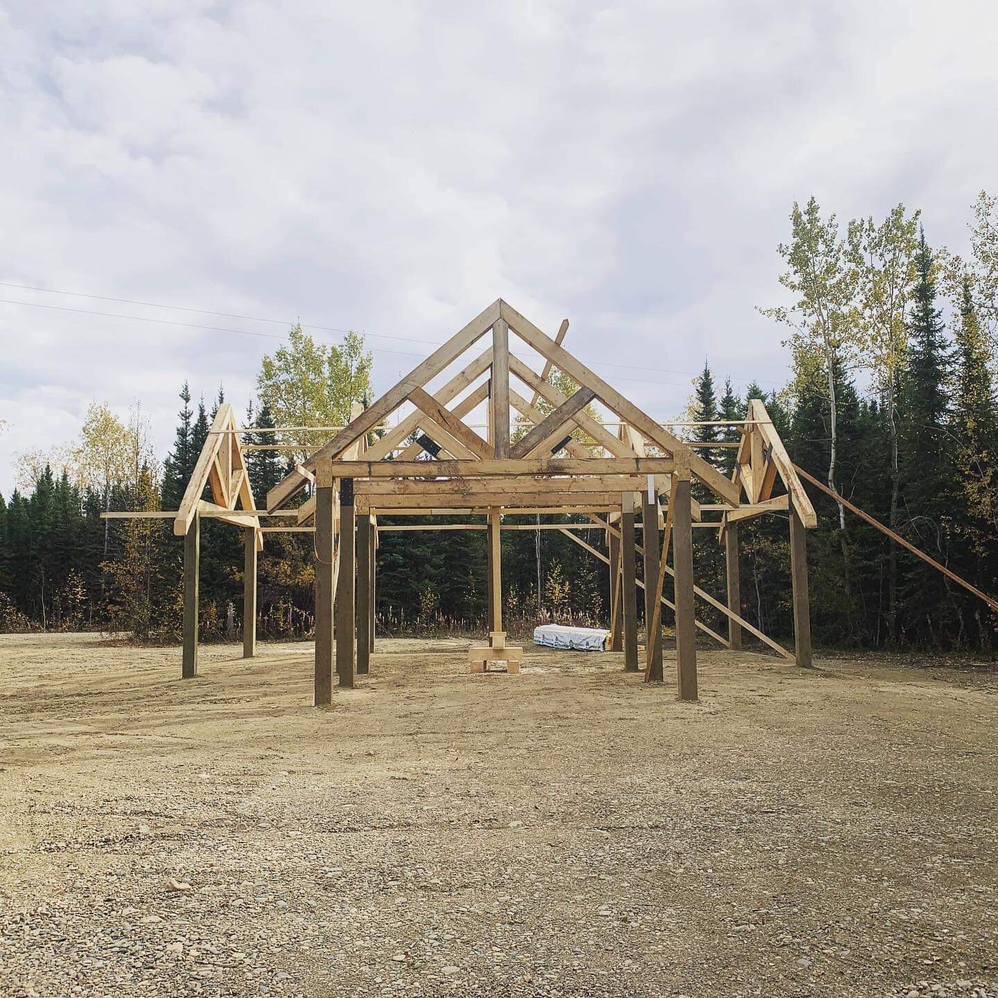 Construction of Mushing Pavillion