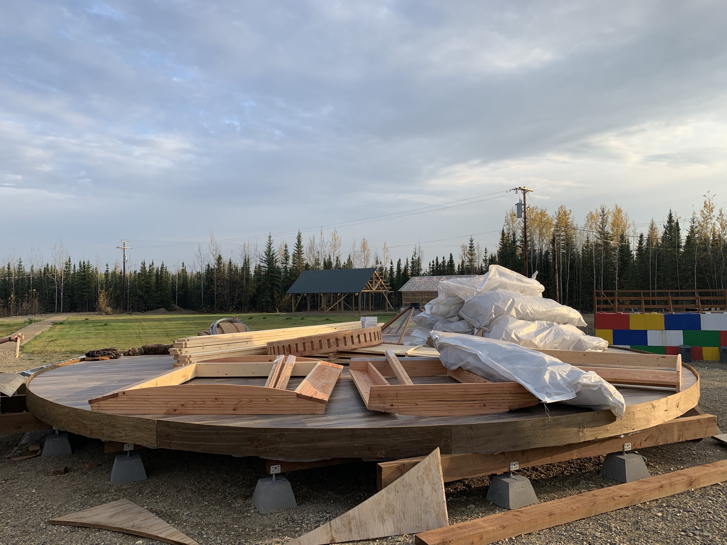 Yurt (future Visitor Center) under construction
