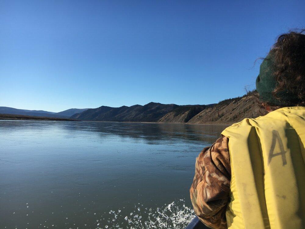 Boating down the Yukon