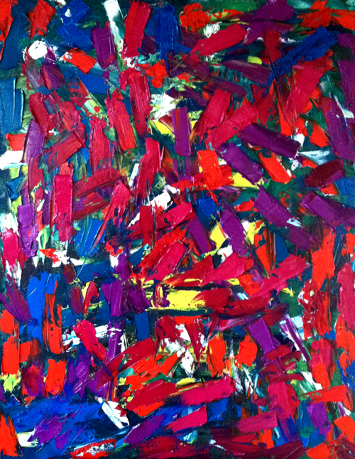 "oil on canvas, 24"" x 30"""
