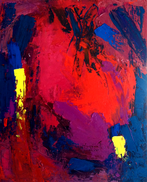 "oil on canvas, 16"" x 20"""