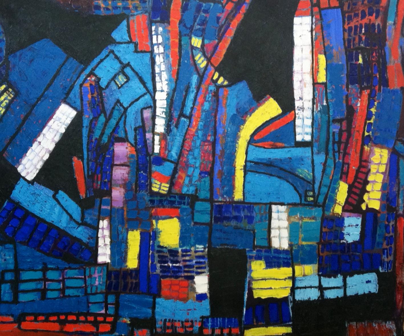 "oil on canvas, 72"" x 60"""