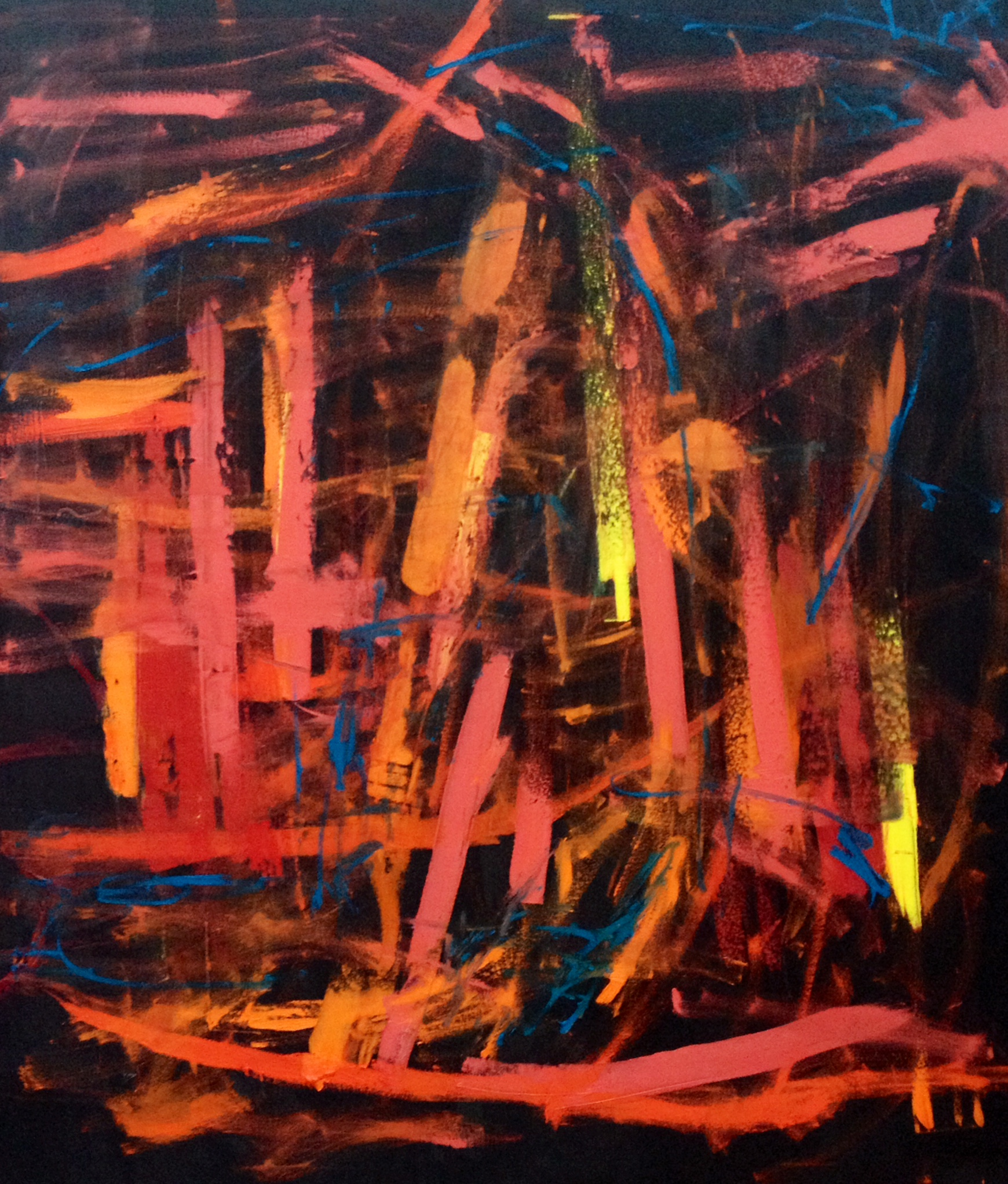 "oil on canvas, 48"" x 54"""
