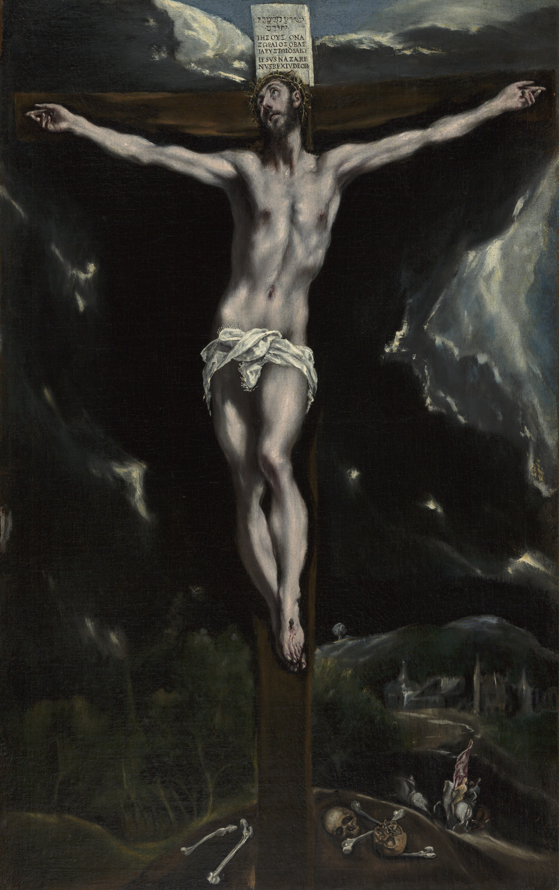Christ on the Cross by El Greco. Click to expand in lightbox.