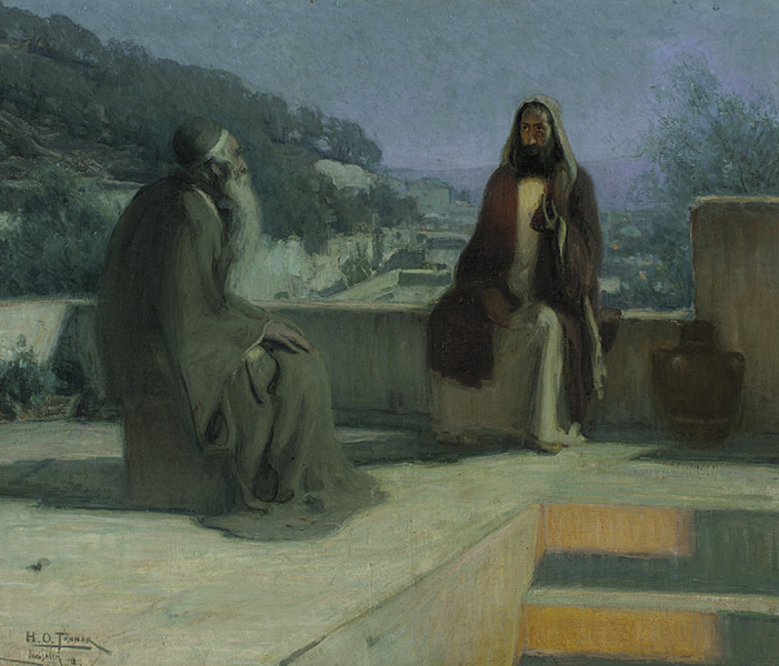 Nicodemus and Jesus on a Rooftop (1899) Henry Ossawa Tanner (1859-1937)