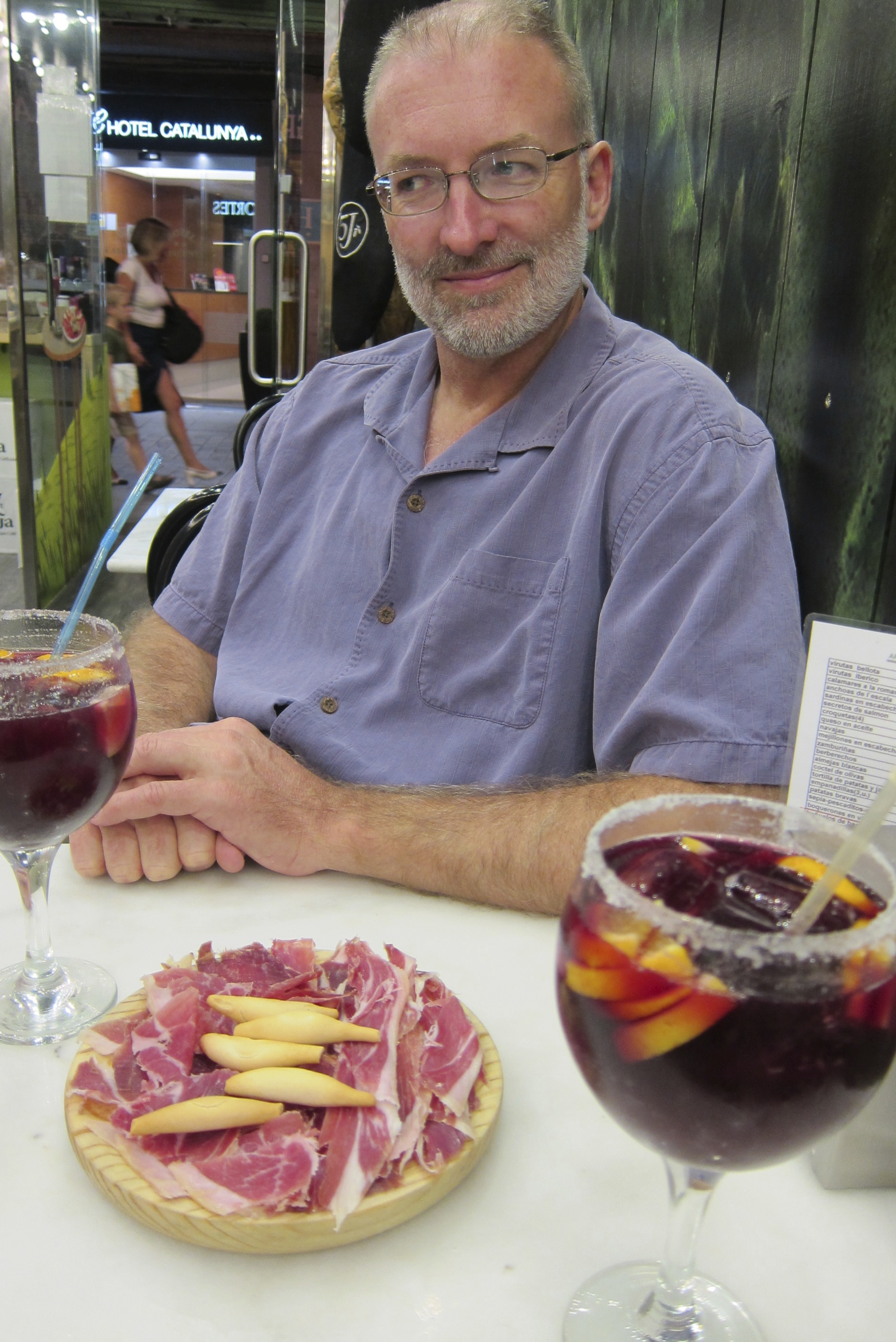 Exploring Barcelona - Ham and Sangria