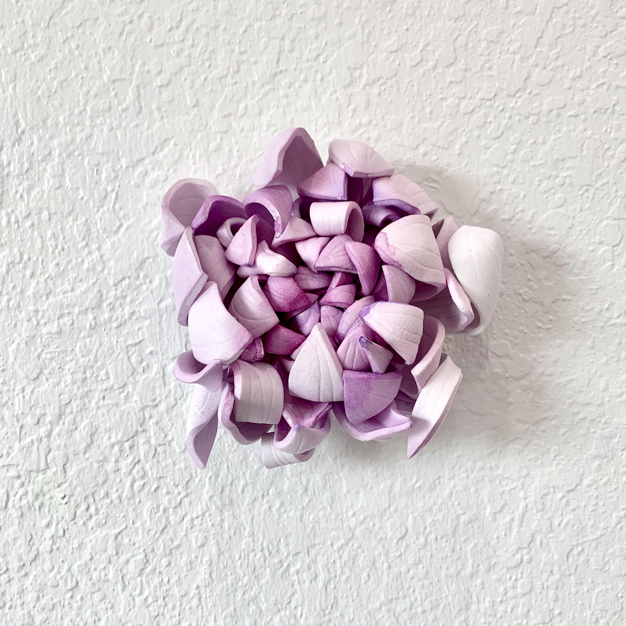 "Shimmer I  EVA foam, acrylic paint, 5"" diameter x 2.5"" depth  $240.00"