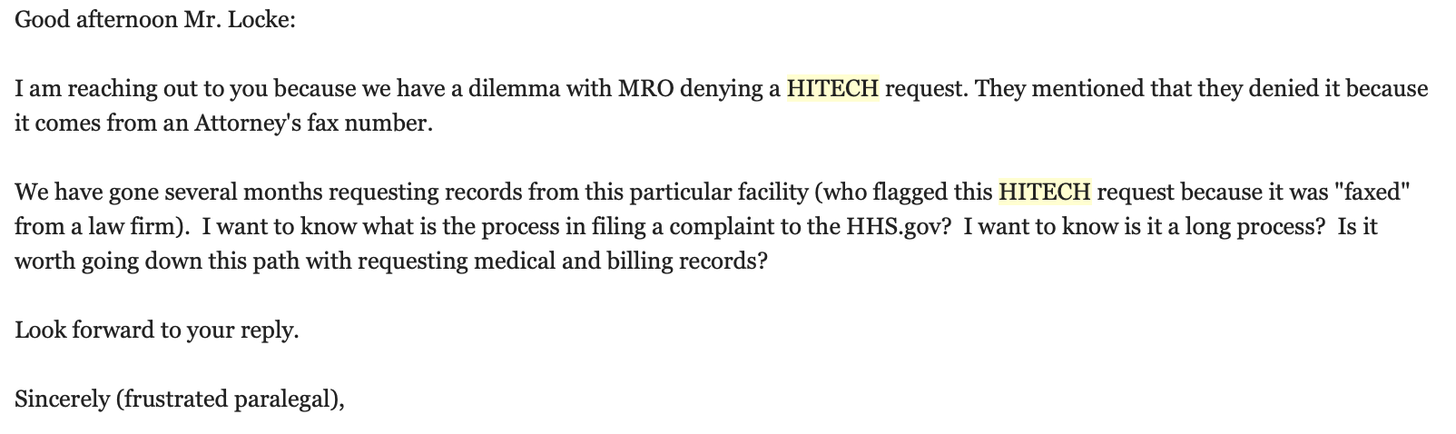 HITECH Act - getting medical records for cheap — Georgia