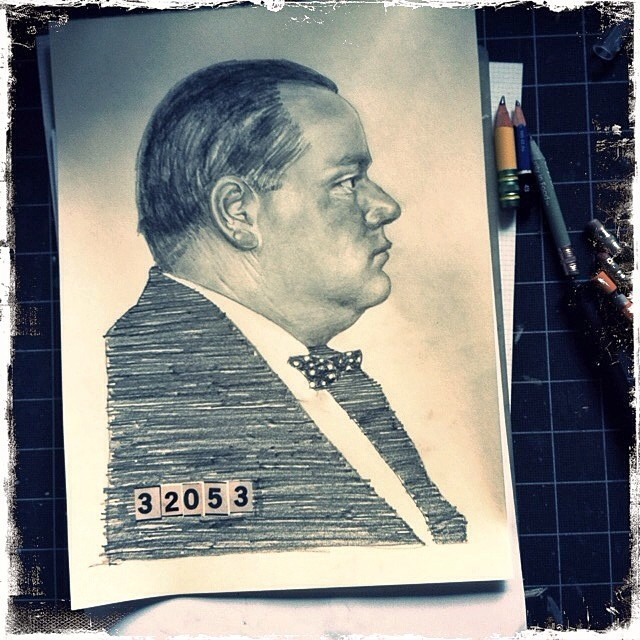 Fatty Arbuckle drawing 2.  (at Fullarton Acres)