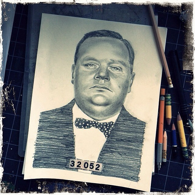 A morning spent drawing Fatty Arbuckle's mug shot is a good morning.