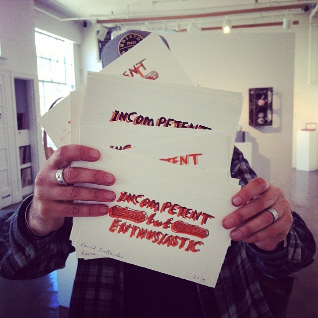 letterpressparade :     David Fullarton made these prints today! Some will be bonus thank you gifts to our donors. Check out our campaign at thecompoundgallery.com and you can get one too! #letterpress #fun #thecompoundgallery @hughjanus  #printmaking #campaign