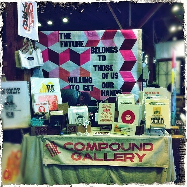 The Compound @ The Alternative Press Expo. Open in 10 Minutes. #sfape (at Concourse Exhibition Center)