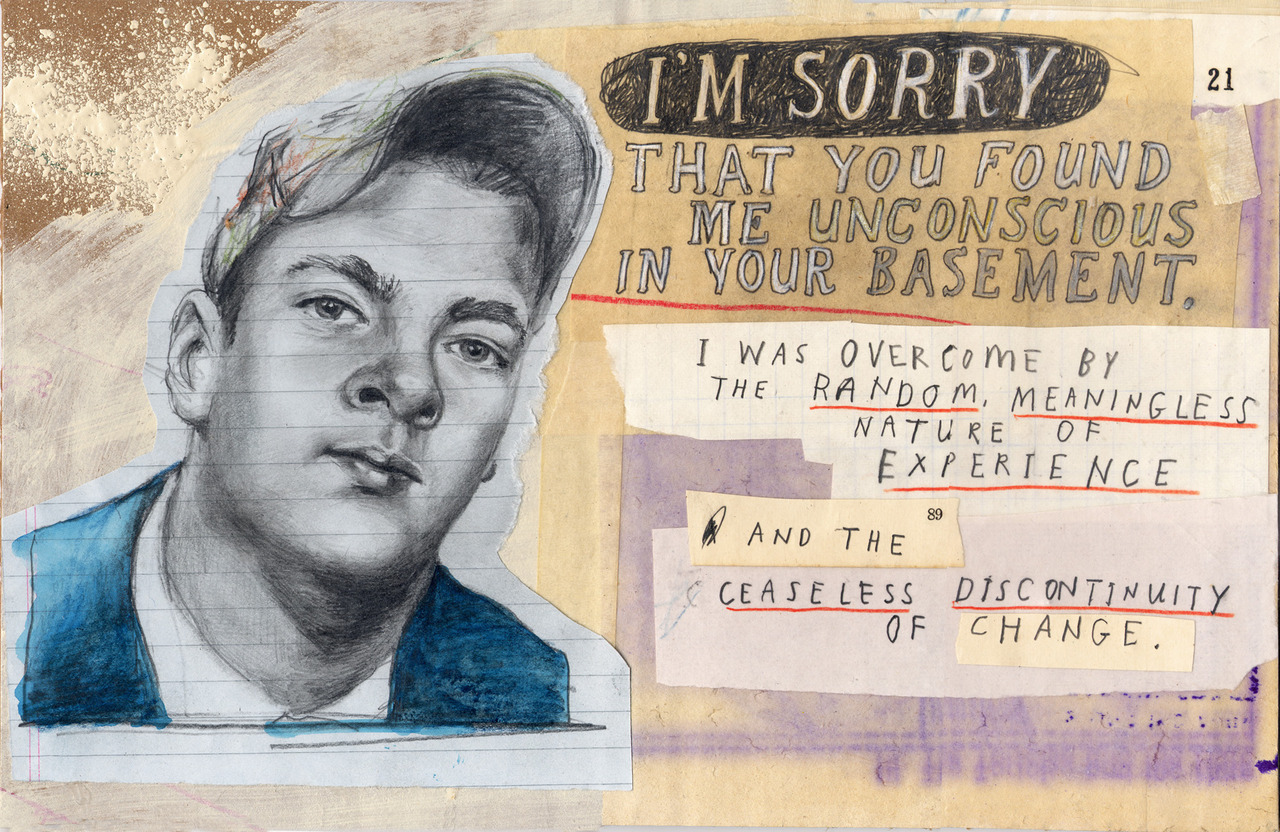 """If you're in the San Francisco Bay area and you'd like to have a look at some of these  Apology pieces  for real I'll be showing a bunch of them as part of   Raw SF  , at  1015 Folsom St, SF . onThursday, 26 July,from 7:00pm - 12:00am.    Raw SF  is described as  """" 30+ of the Bay's emerging & legendary underground artists all coming together to cause a boundary pushing event of unparalleled proportions""""        The mind boggles."""