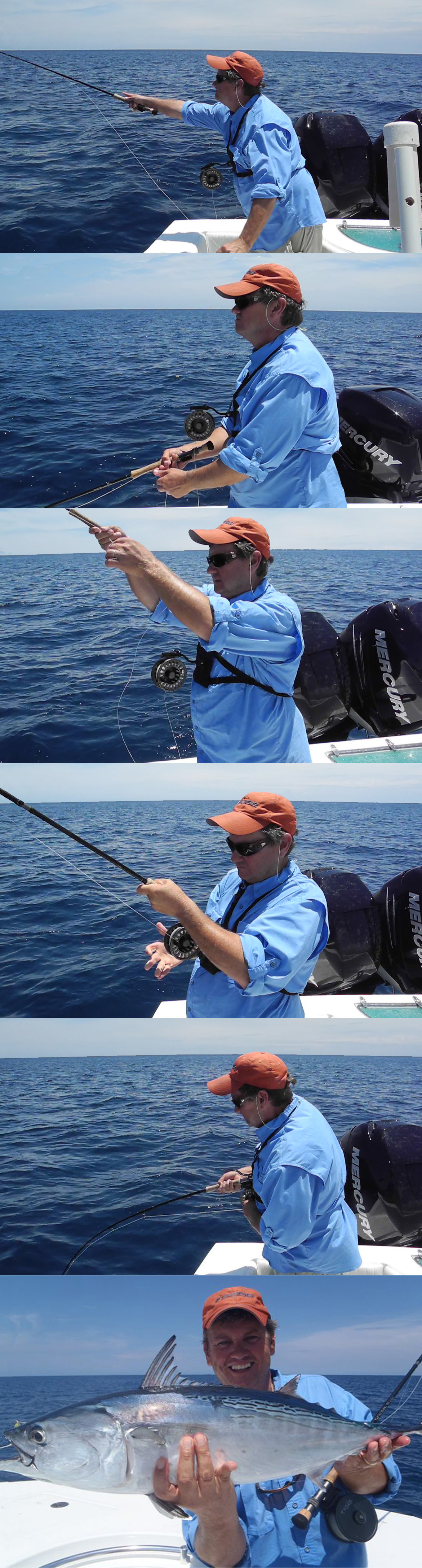 Joe Mahler fly fishing for false albacore with the RexFly