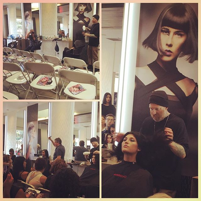"""""""There is no shortage of hairdressers... there is a shortage of QUALITY hairdressers.""""~Nick Arroojo Never stop learning. Thank you @nickarrojo and @planetsalon for your dedication to inspiration. #losangeles #lasalon #lahair #melrose #hairstyles #haircutting #hairstylist #topangacanyon"""