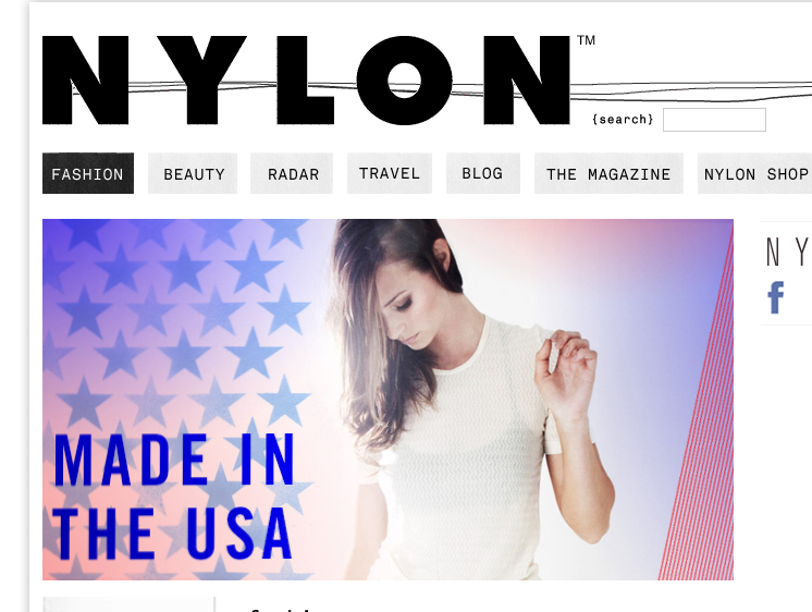 Thank you Nylon for including us as one of the American Made designers!