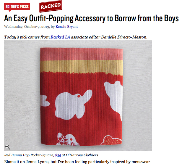 Full Article: http://racked.com/archives/2013/10/09/an-easy-outfitpopping-accessory-to-borrow-from-the-boys.php
