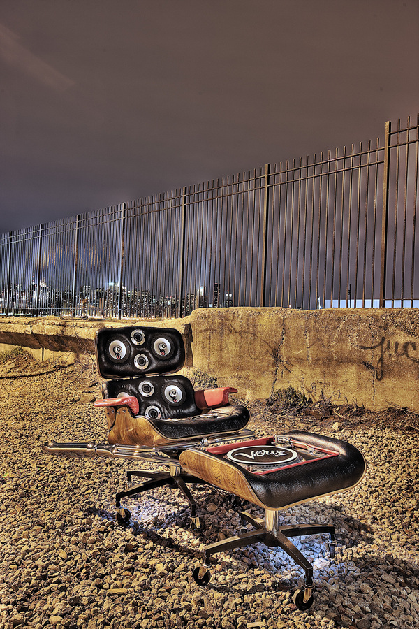 "Eames Chair meets hip hop ""Eames Hotrod BoomBox"""