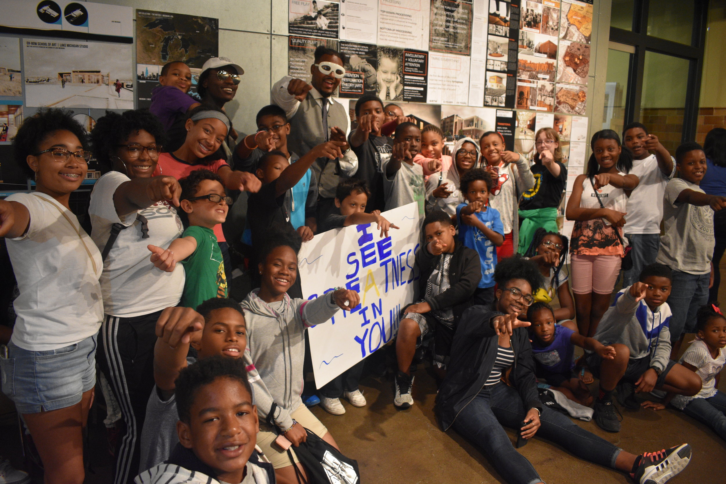 "Terrance Burney  joined the Hip Hop Architecture Camp™ to tell the youth ""I See Greatness In You""!"