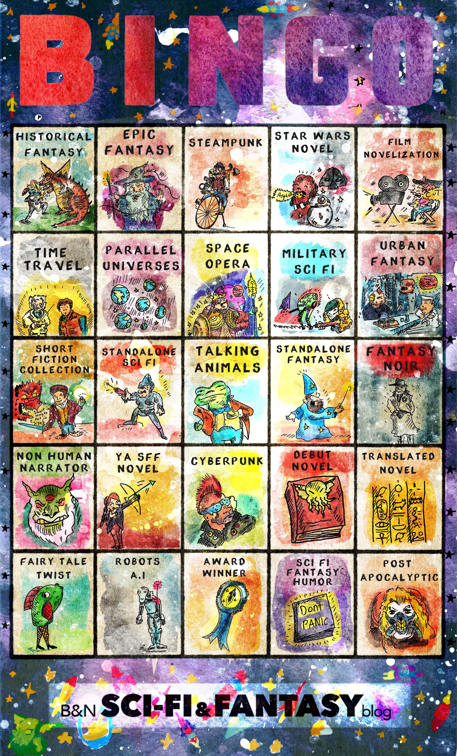 Bingo Card - Sci Fi books to read!