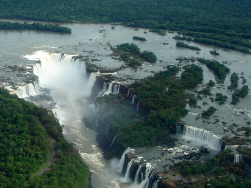 The climax of Synergy is set here, at Iguazu Falls on the border of Brazil, Argentina, and Paraguay.