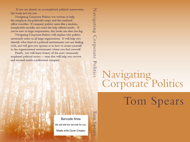 This is the original cover of Navigating Corporate Politics. I still have a few copies availablewith this cover. Click the image for more details.
