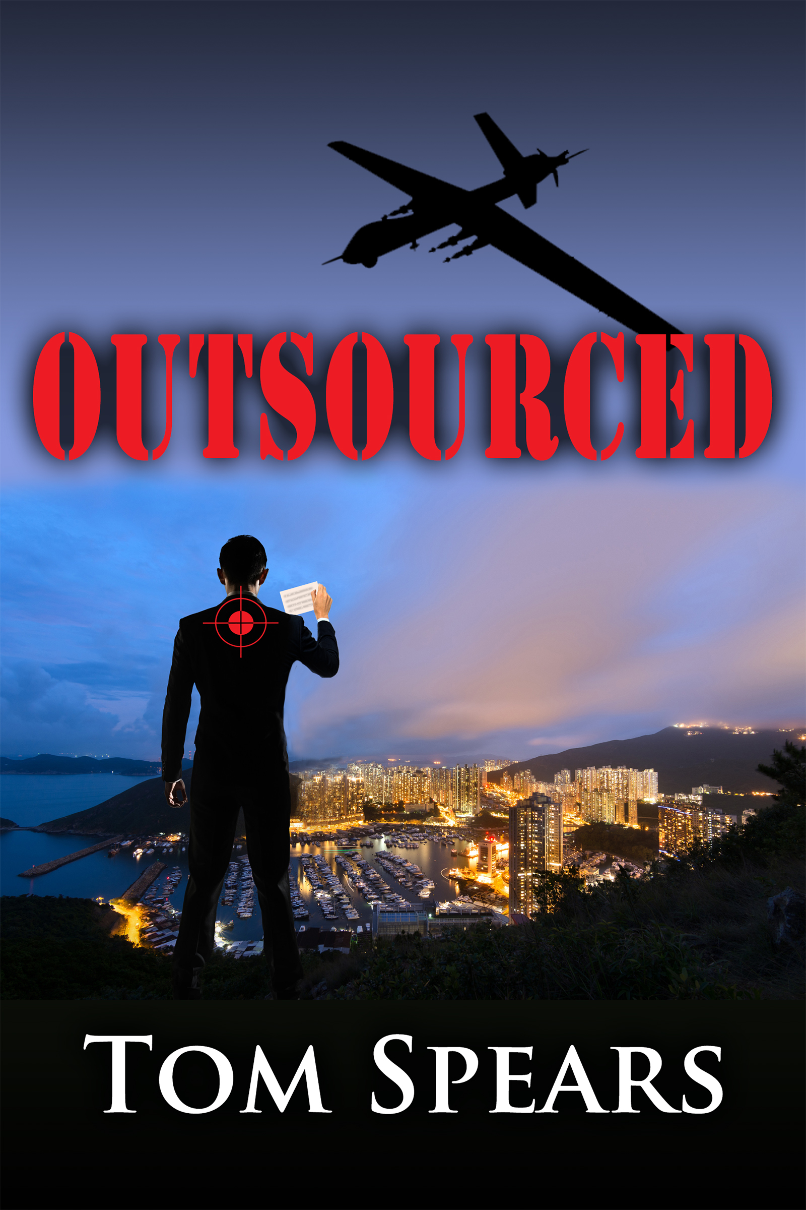 "First look at the cover of OUTSOURCED, the final book in the ""Carson Series"""