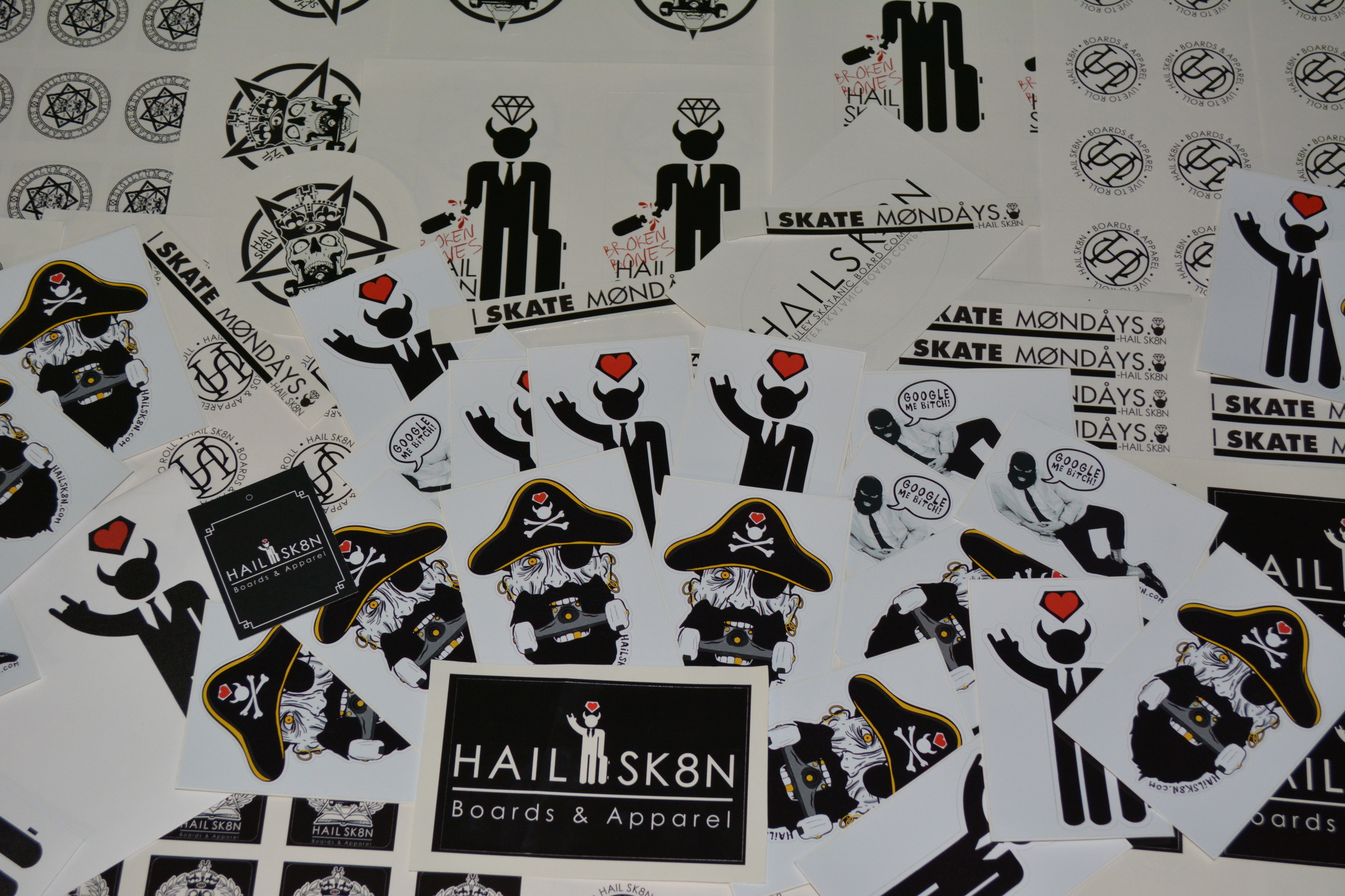 STICKERS 4 DAYS! Follow us on Instagram for contests and free stuff! @IHAILSK8N