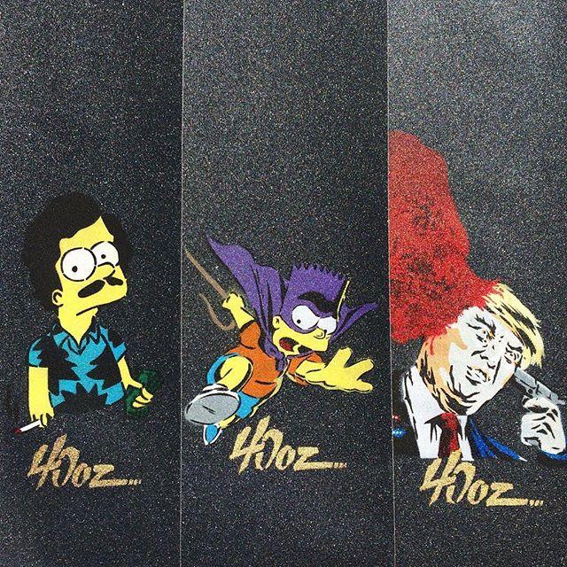 Checkout these sick new grip tapes from @40ozgrip 🔥🤘🏻😆🤘🏻🔥 . . . . . . #skate #40ozgrip #skateboarding #skater #culture #lifestyle #skateordie #bart #simpsons #elbarto #bartman #skateboardingisfun #thesimpsons #trump #killyourself #narcos #killinitdaily #killinit #hailsk8n #live2roll #lol #thrasher #skateanddestroy