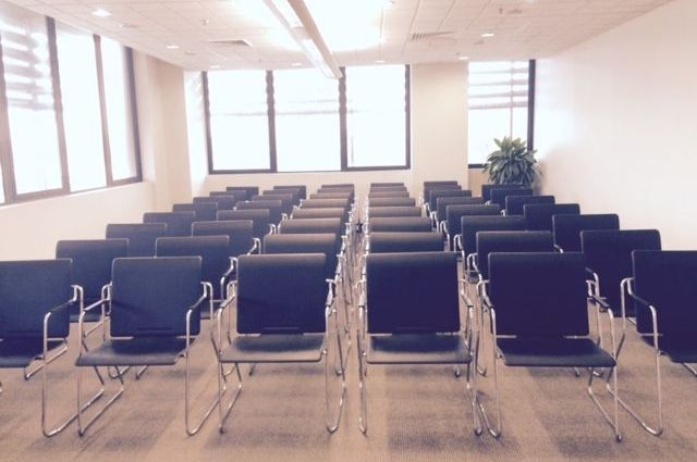 Boardroom - Lecture Theatre Set up x 40 - view from front middle.jpg