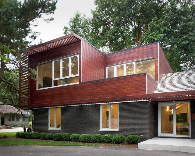 """Modern """"Ranch"""" Addition by Hufft Projects ,(Photo: houzz.com)"""