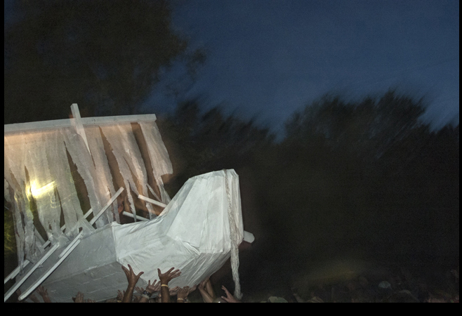 """"""" Burial procession for the final Cornerstone ,"""" 2012."""