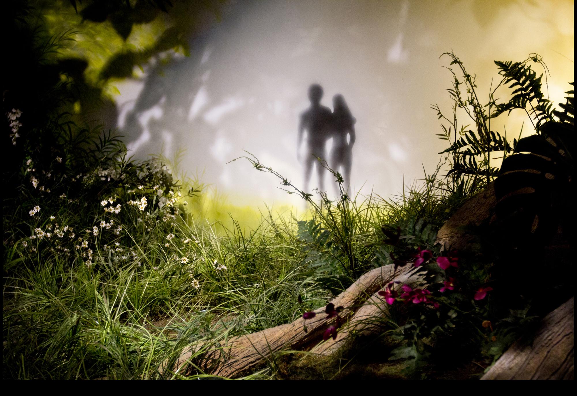""""""" Adam and Eve Vignette ,"""" 2013."""