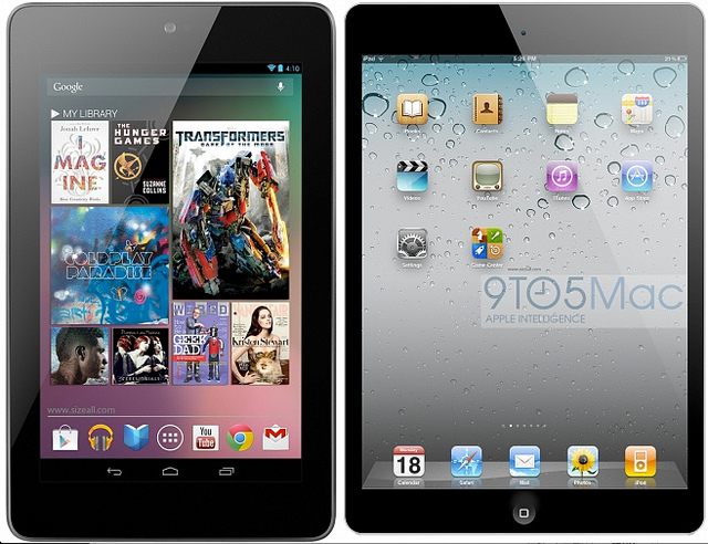 Nexus 7 & iPad Mini: CC Image courtesy of Sam Churchill on Flickr