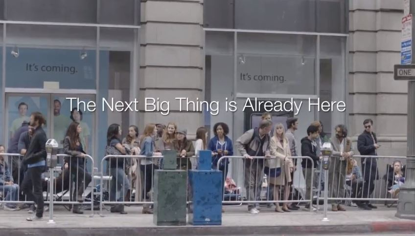 Samsung's Galaxy SIII ads depict iPhone users waiting in line (like sheep), while Galaxy owners show off the nifty features not present in the iPhone.