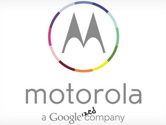 "The new ""Googleized"" Motorola logo."