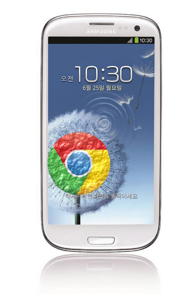 Samsung GS3 with Chrome